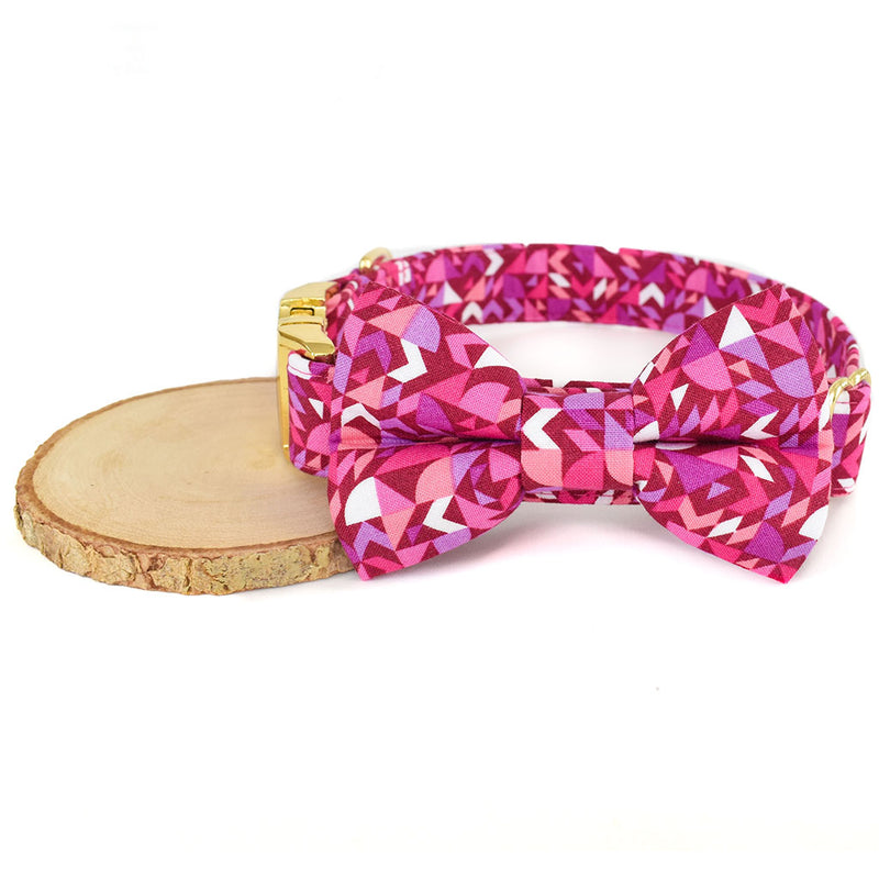 THE LEXI DOG COLLAR AND BOW TIE SET