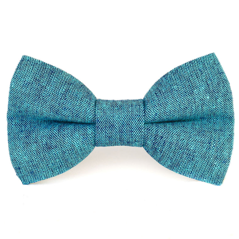 The Ernie Linen Dog Bow Tie