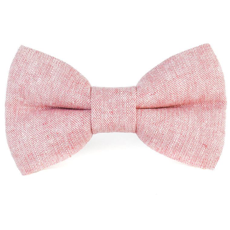The Rosa Linen Dog Bow Tie
