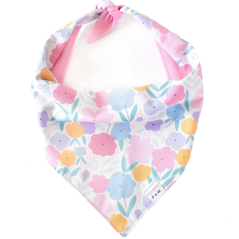 Pastel Poppies Dog Bandana