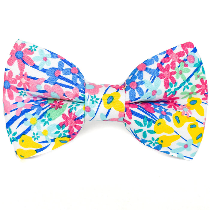 Oceanside Floral Dog Bow Tie