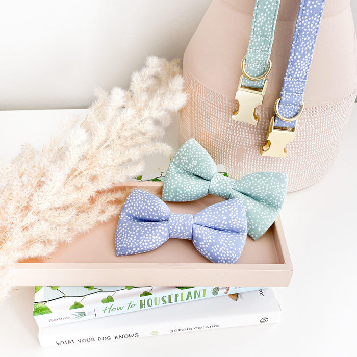 Periwinkle Bubbly Dog Bow Tie