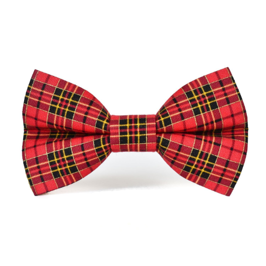 Red Plaid - Dog Bow Tie