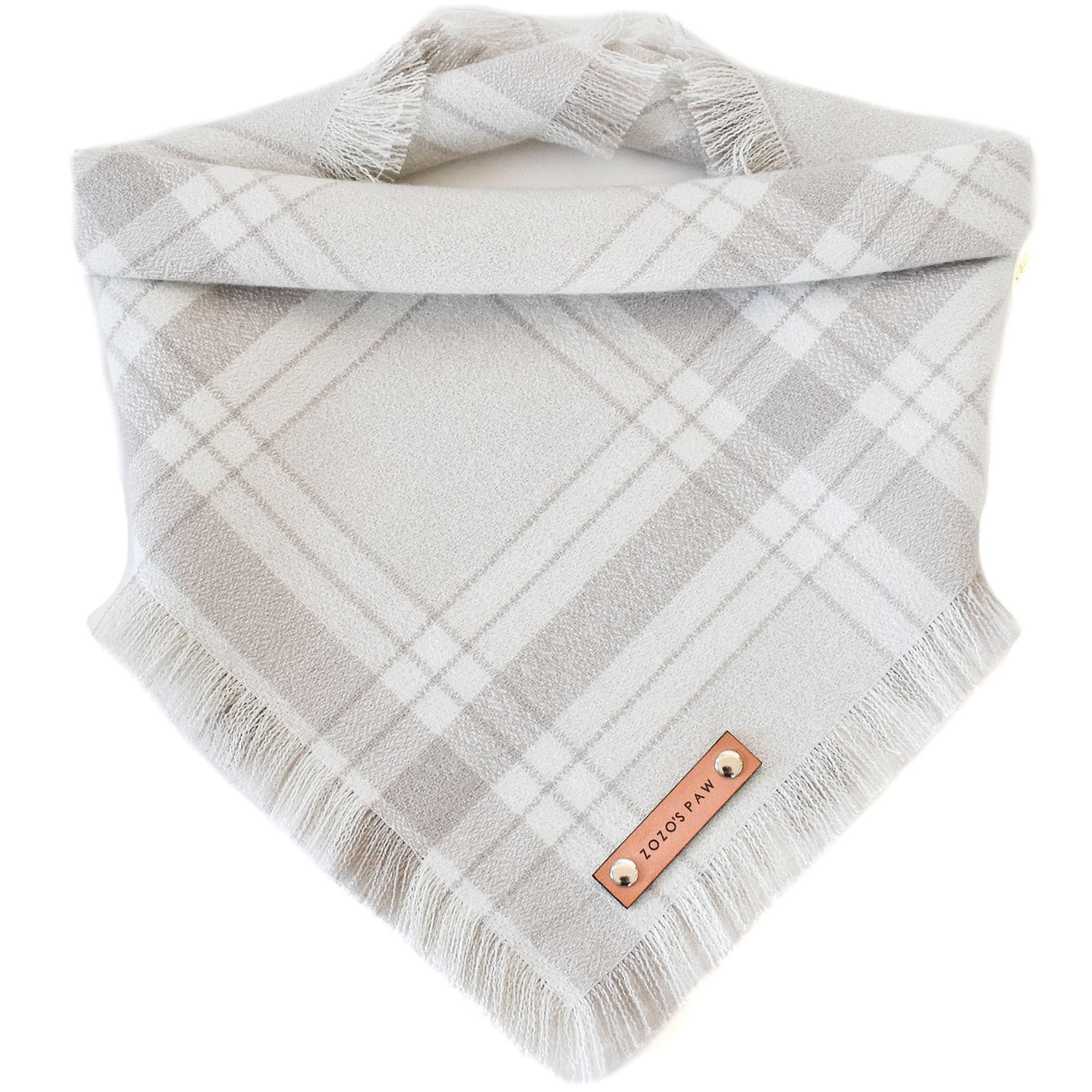 THE PEARL - Dog Flannel Fray Bandana
