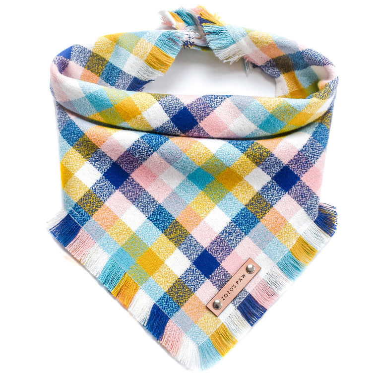 THE MARGOT - Dog Flannel Fray Bandana