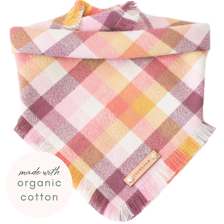 THE SORBET - Dog Flannel Fray Bandana