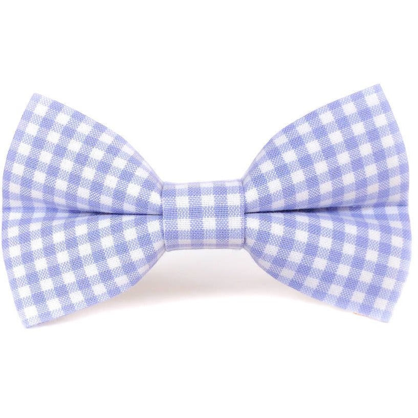LAVENDER GINGHAM - Dog Bow Tie