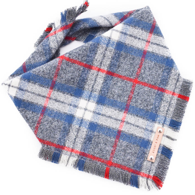 THE TAYLOR - Dog Flannel Fray Bandana