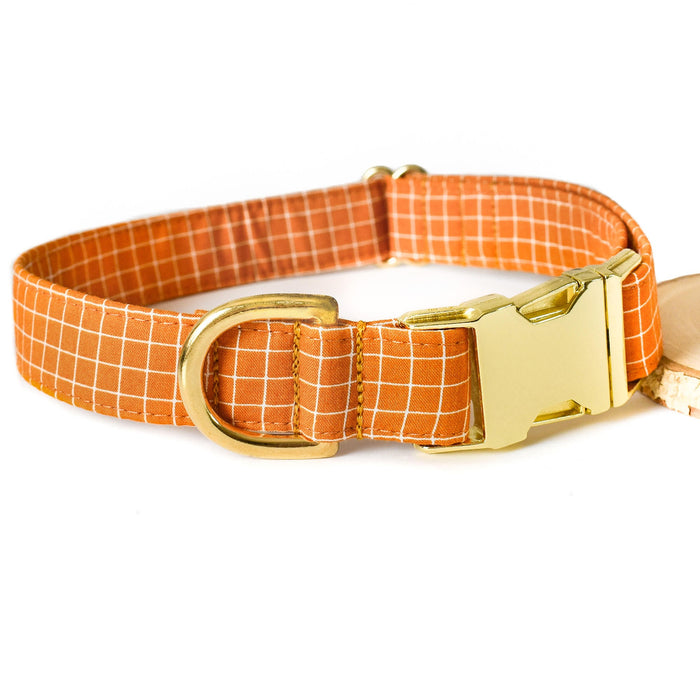 BUTTERSCOTCH GRID DOG COLLAR