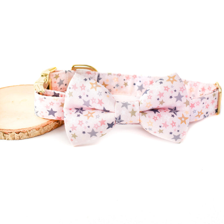 STAR SPRINKLES DOG COLLAR AND BOW TIE SET