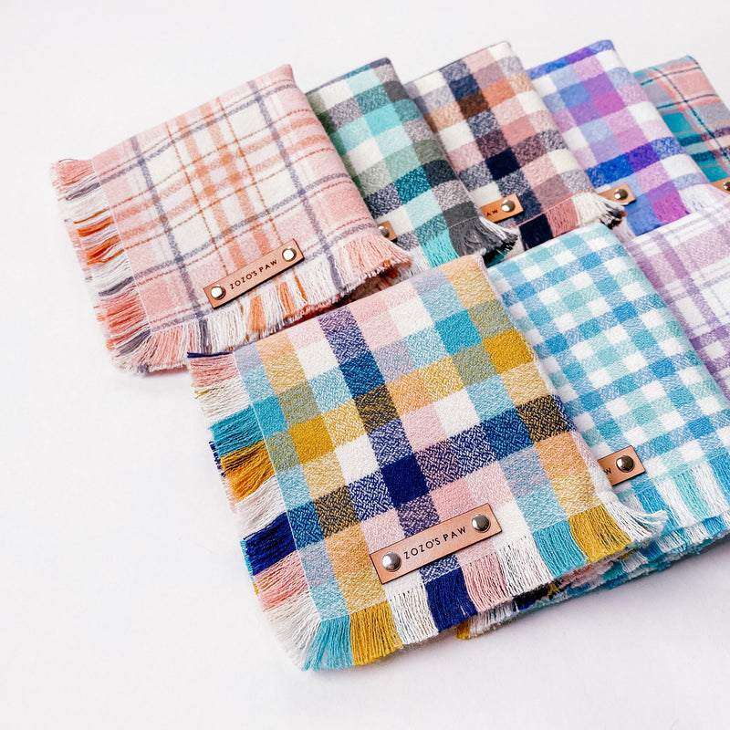 THE ASTRA - Dog Flannel Fray Bandana