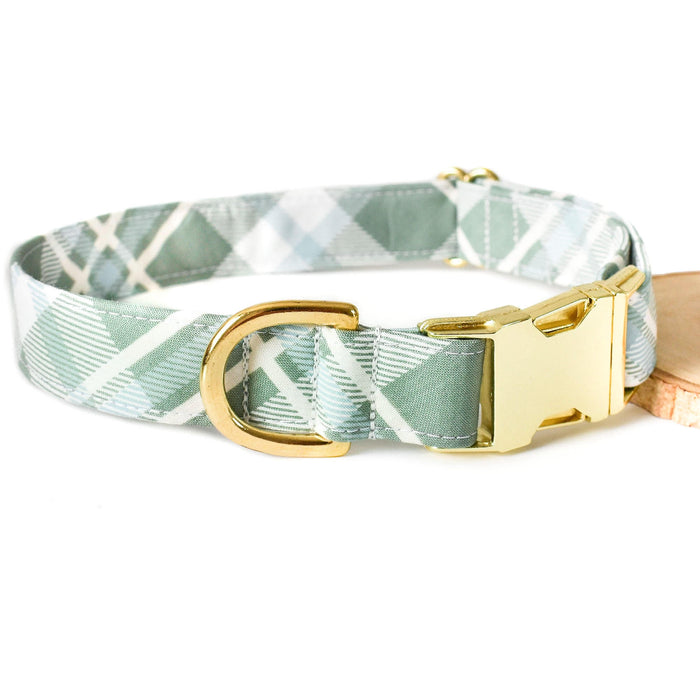 PARKER PLAID DOG COLLAR
