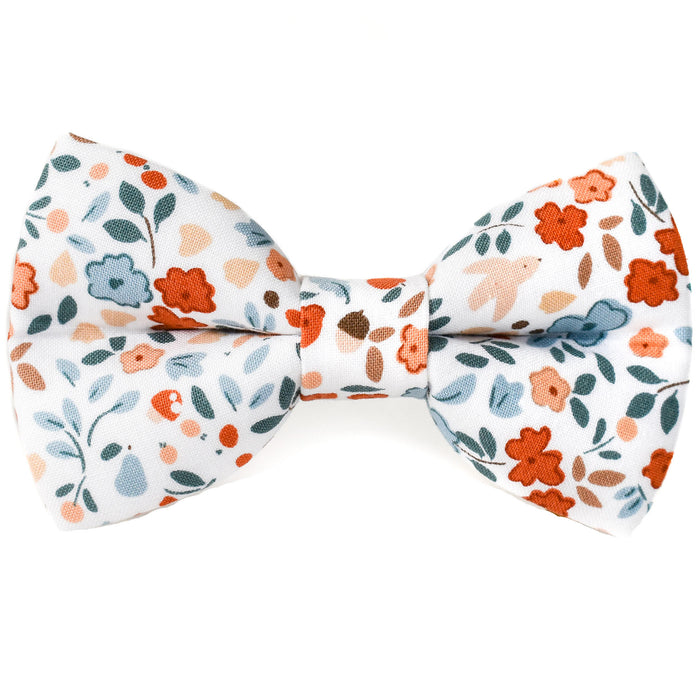 Autumn Floral Dog Bow Tie