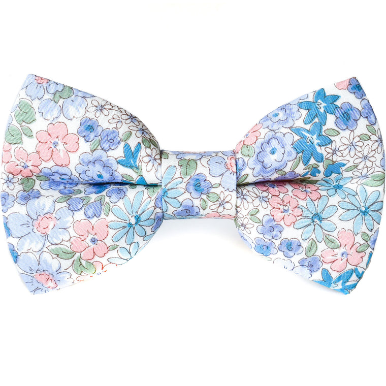 Blue Meadow Dog Bow Tie