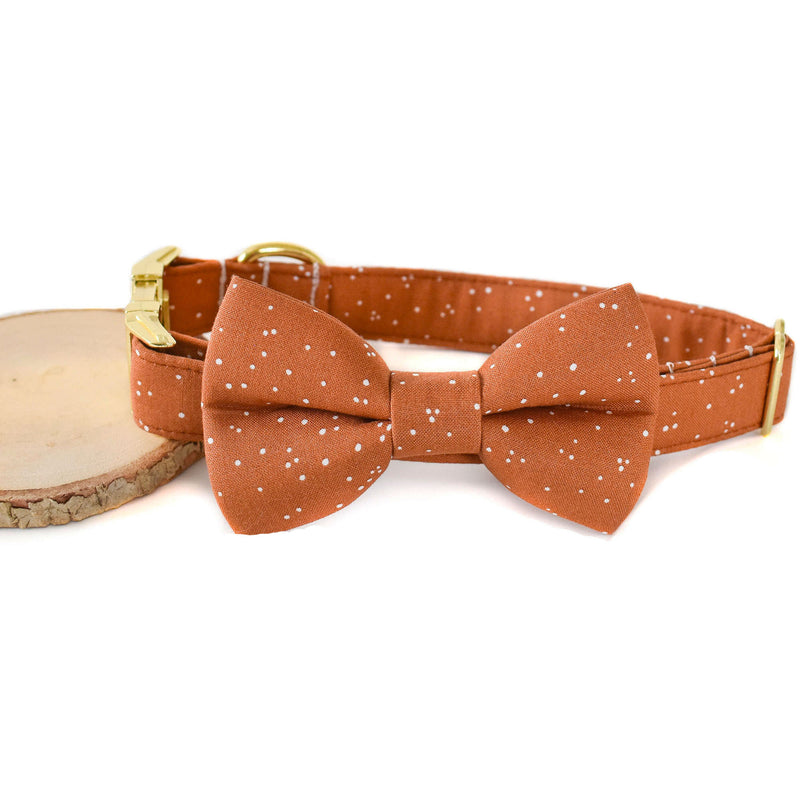 SPICED SPECKLES DOG COLLAR AND BOW TIE SET
