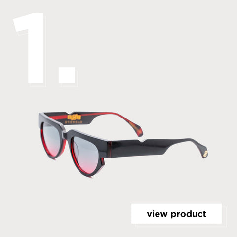 Age Eyewear Triage Black w Red