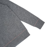ALEGER Crew Neck Sweater With Contrast Details - Dark Grey - Et Vous Fashion Boutique