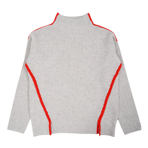 ALEGER Ribbed Contrast Sweater - Et Vous Fashion Boutique