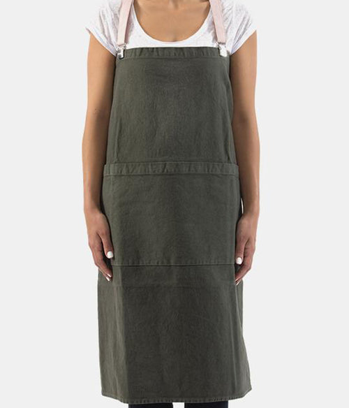 UASHMAMA Cotton Apron w Braces - Et Vous Fashion Boutique