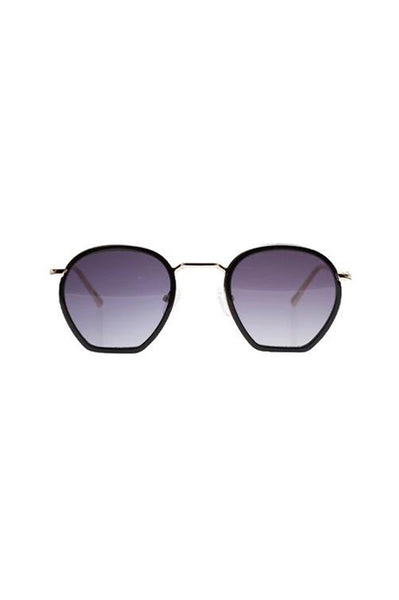 Age Eyewear Wage Gold w Black Acetate - Et Vous Fashion Boutique
