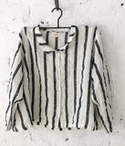 Meg by Design Avery Striped  Linen Shirt - Et Vous Fashion Boutique