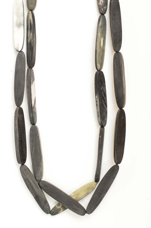 CATH•S Grey Long Horn Necklace - Et Vous Fashion Boutique