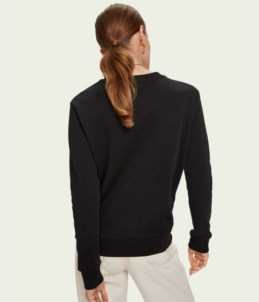 Scotch & Soda Crewneck Sweat w Embroidery - Et Vous Fashion Boutique