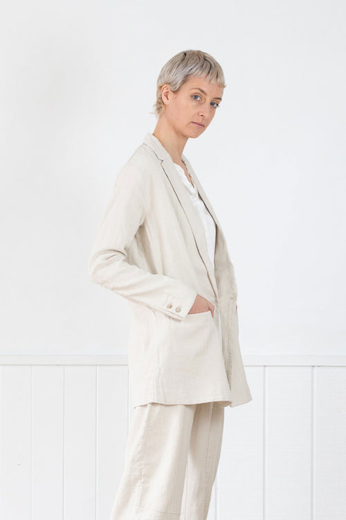 Transit Par-Such Fine Herringbone Blazer - Et Vous Fashion Boutique