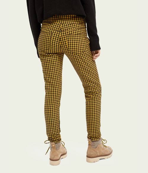 Scotch & Soda High Rise Skinny Checkered Pants - Et Vous Fashion Boutique