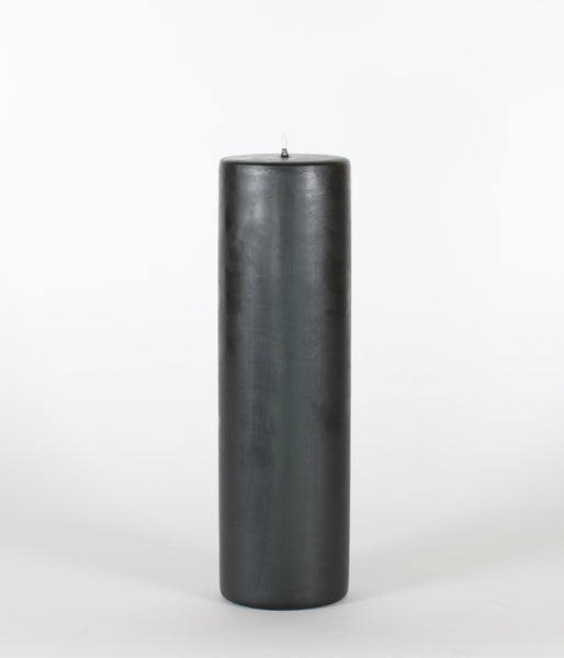 National Candle Pillar 75x250mm Black - Et Vous Fashion Boutique