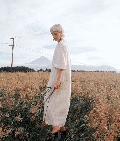 BROOKE BARRETT Gingham Linen Dress - Et Vous Fashion Boutique
