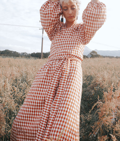 BROOKE BARRETT Gingham Linen Wrap Dress - Et Vous Fashion Boutique