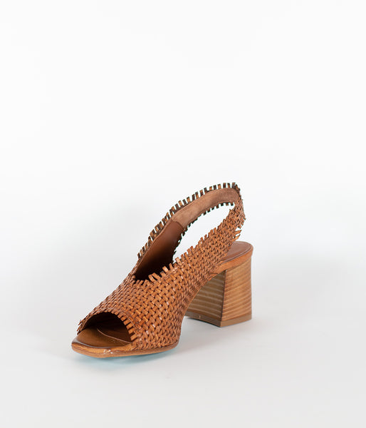 Patty Marchi Intreccio Cuoio Heel - Et Vous Fashion Boutique
