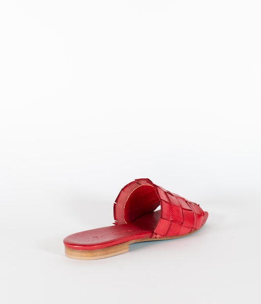 Patty Marchi Intreccio Rosso Sandal - Et Vous Fashion Boutique