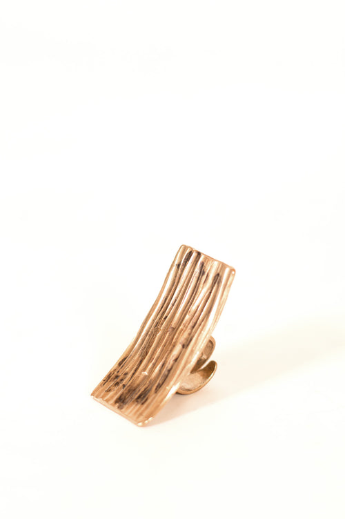 Miriam Nori Ring With Raised Lines - Et Vous Fashion Boutique
