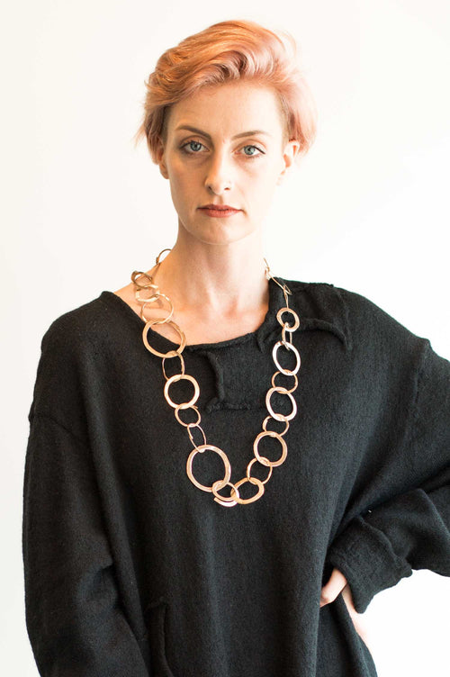 Miriam Nori Circle Necklace Length 75cm - Et Vous Fashion Boutique