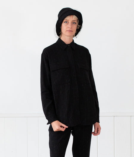 Transit Par-Such Long Check Knit Jacket