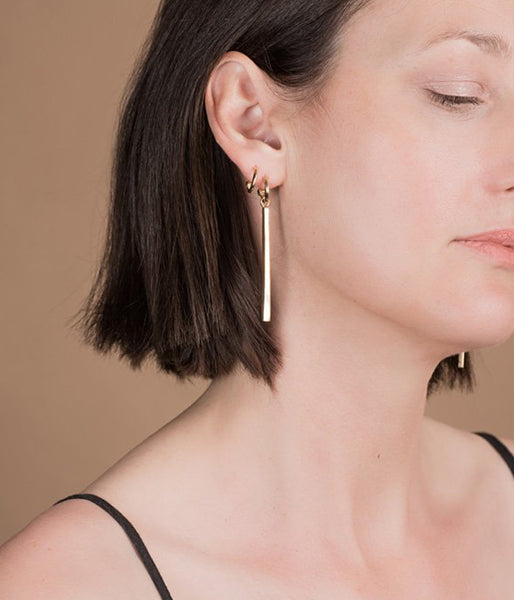 Rachel Stichbury Long Road Earrings Gold Plated - Et Vous Fashion Boutique