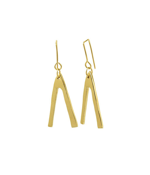 Rachel Stichbury U Turn Earrings Gold Plated - Et Vous Fashion Boutique