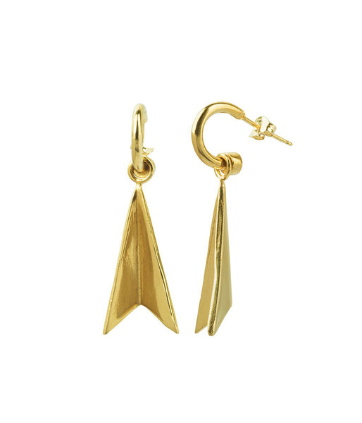 Rachel Stichbury Hazard Earrings Small Gold Plated - Et Vous Fashion Boutique