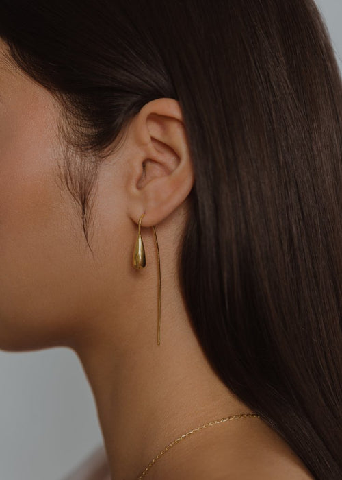 Rachel Stichbury  Pear Drop Earrings Gold Plated - Et Vous Fashion Boutique