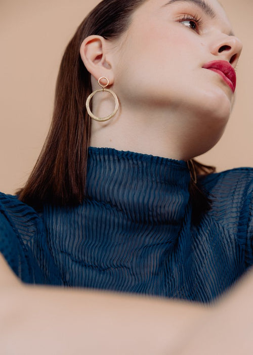 Rachel Stichbury Halo Earrings Gold Plated - Et Vous Fashion Boutique