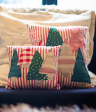 Red Striped Large Patchwork Cushion - Et Vous Fashion Boutique
