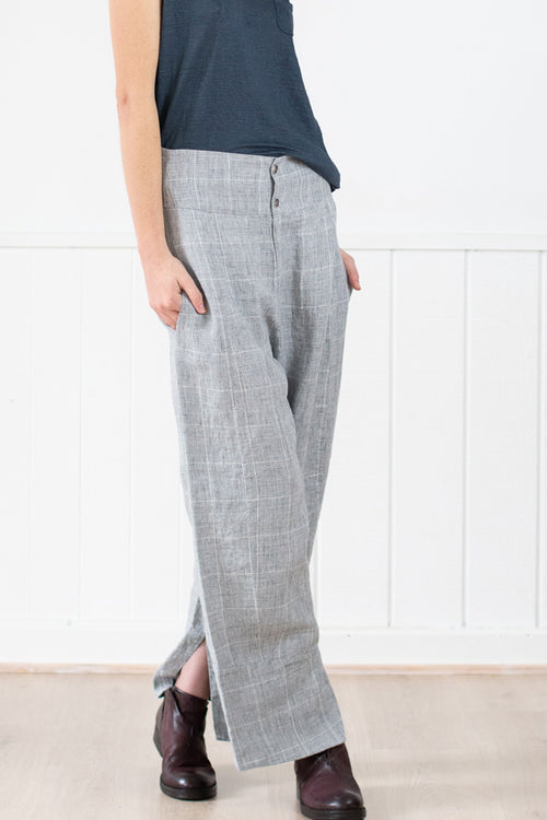 Transit Par-Such Soft Check Wide Leg Pants - Et Vous Fashion Boutique