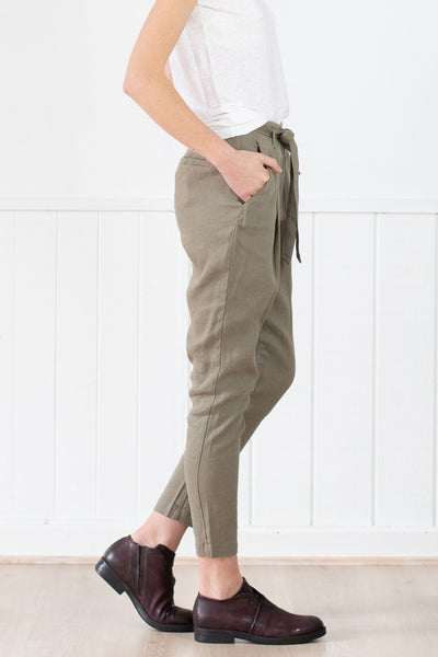 Transit Par-Such Tapered Pant w Tie - Et Vous Fashion Boutique