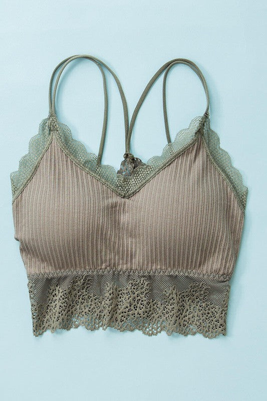 Farley Lace Trim Bralette in Multiple Colors