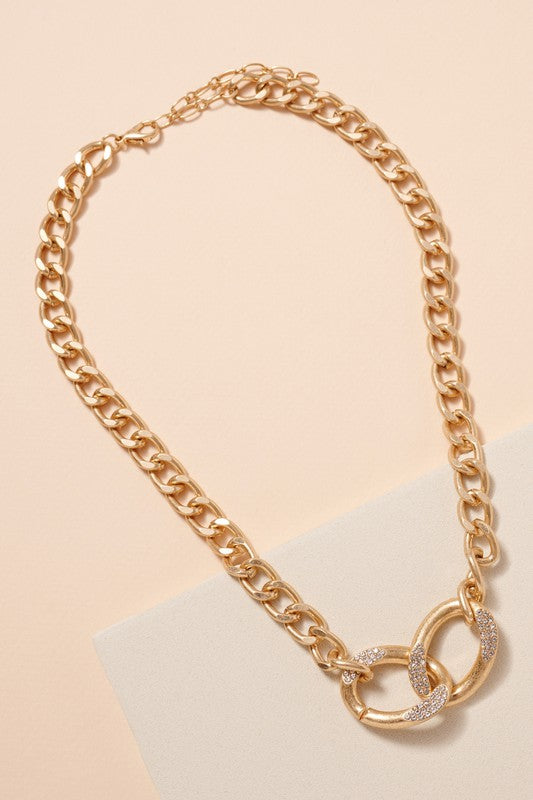 Dua Rhinestone Linked Necklace