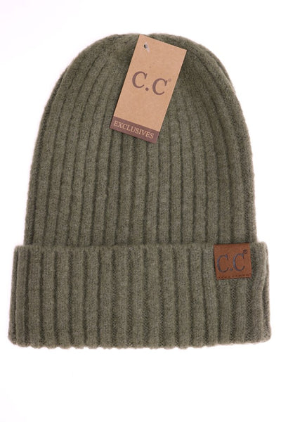 Unisex Ribbed C.C Hat