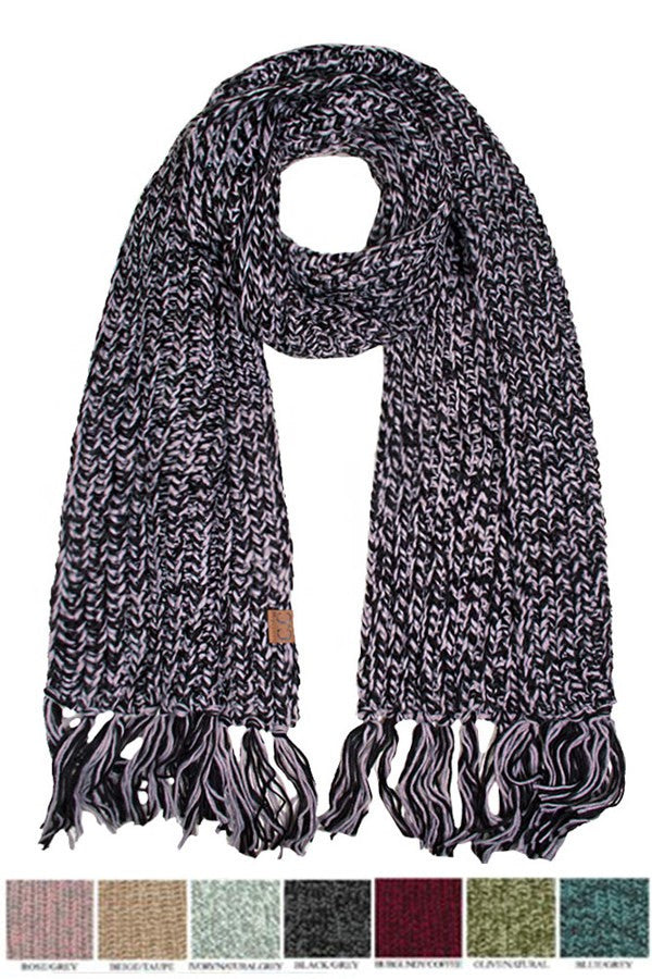 C.C Chunky Multi Color Scarf