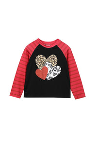 Brick Red Hearts Tee
